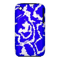 Migraine Blue Apple iPhone 3G/3GS Hardshell Case (PC+Silicone)