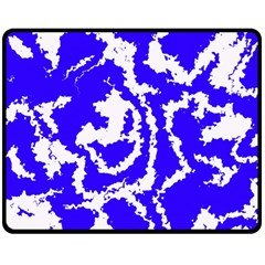 Migraine Blue Double Sided Fleece Blanket (medium)