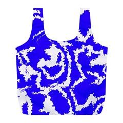 Migraine Blue Full Print Recycle Bags (L)