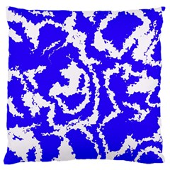 Migraine Blue Large Flano Cushion Cases (two Sides)