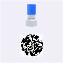 Migraine Bw Rubber Round Stamps (Small)