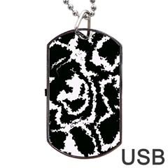 Migraine Bw Dog Tag USB Flash (One Side)