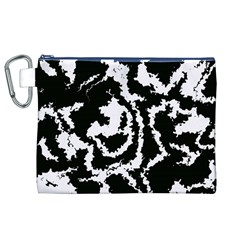 Migraine Bw Canvas Cosmetic Bag (XL)