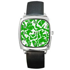 Migraine Green Square Metal Watches
