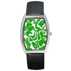 Migraine Green Barrel Metal Watches