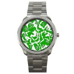 Migraine Green Sport Metal Watches