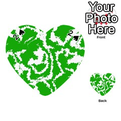 Migraine Green Playing Cards 54 (heart)