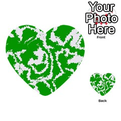 Migraine Green Multi-purpose Cards (Heart)
