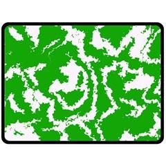 Migraine Green Fleece Blanket (large)