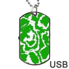 Migraine Green Dog Tag USB Flash (Two Sides)