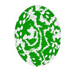 Migraine Green Ornament (Oval Filigree)