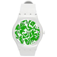 Migraine Green Round Plastic Sport Watch (M)