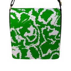 Migraine Green Flap Messenger Bag (L)