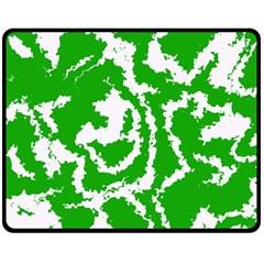 Migraine Green Double Sided Fleece Blanket (Medium)