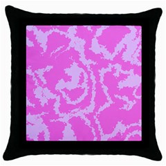 Migraine Pink Throw Pillow Cases (Black)