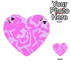 Migraine Pink Playing Cards 54 (heart)