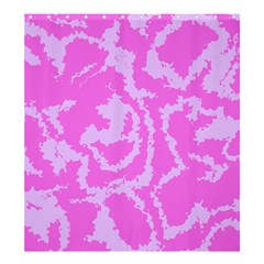 Migraine Pink Shower Curtain 66  x 72  (Large)