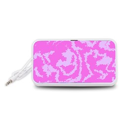 Migraine Pink Portable Speaker (White)