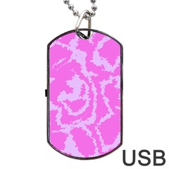 Migraine Pink Dog Tag Usb Flash (one Side)