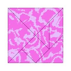 Migraine Pink Acrylic Tangram Puzzle (6  x 6 )