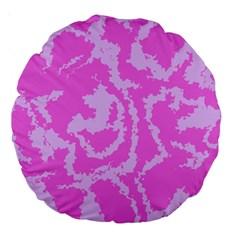 Migraine Pink Large 18  Premium Round Cushions