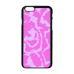 Migraine Pink Apple iPhone 6 Black Enamel Case