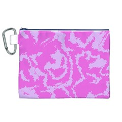 Migraine Pink Canvas Cosmetic Bag (XL)