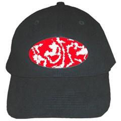 Migraine Red White Black Cap