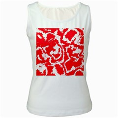 Migraine Red White Women s Tank Tops