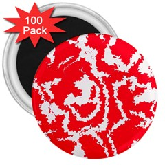 Migraine Red White 3  Magnets (100 pack)