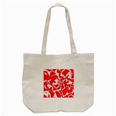 Migraine Red White Tote Bag (Cream)