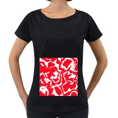 Migraine Red White Women s Loose Fit T Shirt (black)