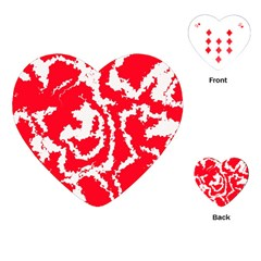 Migraine Red White Playing Cards (Heart)