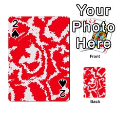 Migraine Red White Playing Cards 54 Designs
