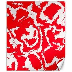 Migraine Red White Canvas 20  x 24