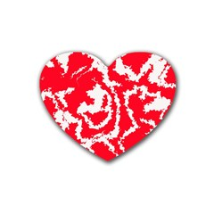Migraine Red White Heart Coaster (4 pack)