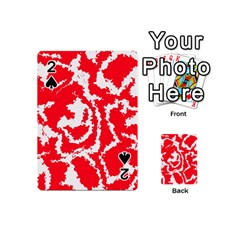 Migraine Red White Playing Cards 54 (mini)