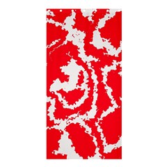 Migraine Red White Shower Curtain 36  X 72  (stall)