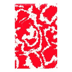 Migraine Red White Shower Curtain 48  x 72  (Small)