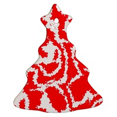 Migraine Red White Christmas Tree Ornament (2 Sides)