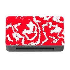 Migraine Red White Memory Card Reader with CF