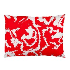 Migraine Red White Pillow Cases (two Sides)