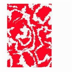 Migraine Red White Large Garden Flag (two Sides)