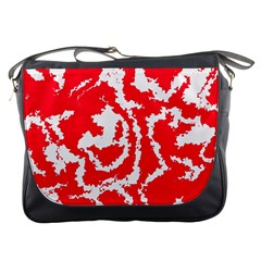 Migraine Red White Messenger Bags