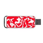 Migraine Red White Portable USB Flash (Two Sides) Back