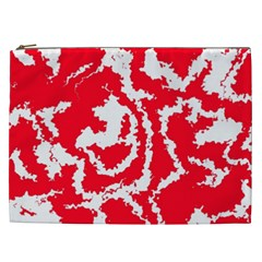 Migraine Red White Cosmetic Bag (XXL)