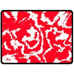 Migraine Red White Double Sided Fleece Blanket (large)