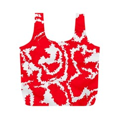 Migraine Red White Full Print Recycle Bags (M)