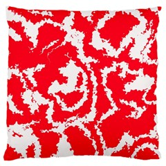 Migraine Red White Large Flano Cushion Cases (Two Sides)