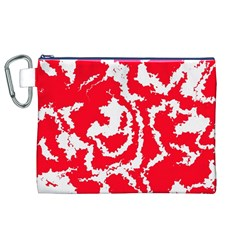 Migraine Red White Canvas Cosmetic Bag (XL)